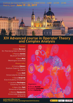 XIV Advanced course in Operator Theory and Complex Analysis